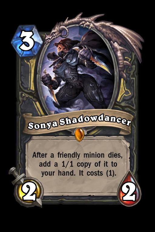 Sonya Shadowdancer Hearthstone kártya