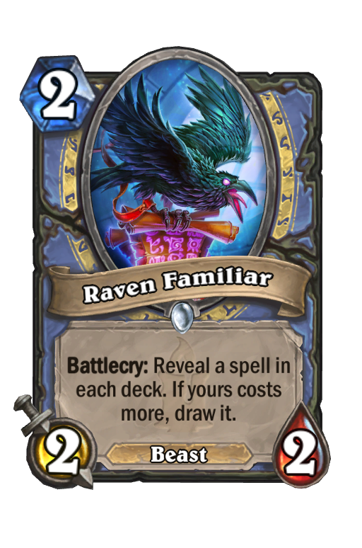 Raven Familiar Hearthstone kártya