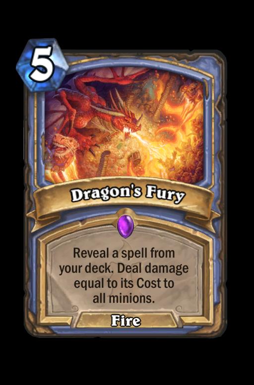 Dragon's Fury Hearthstone kártya