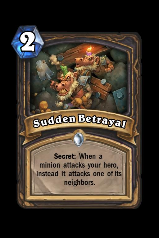 Sudden Betrayal Hearthstone kártya