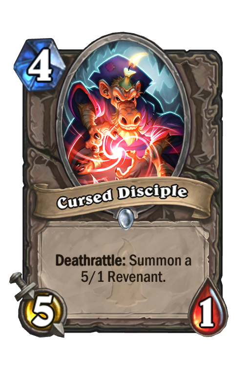Cursed Disciple Hearthstone kártya