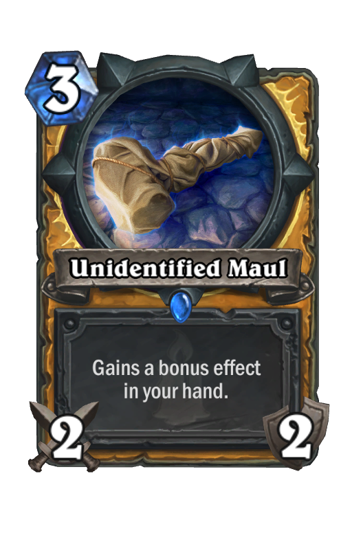 Unidentified Maul Hearthstone kártya