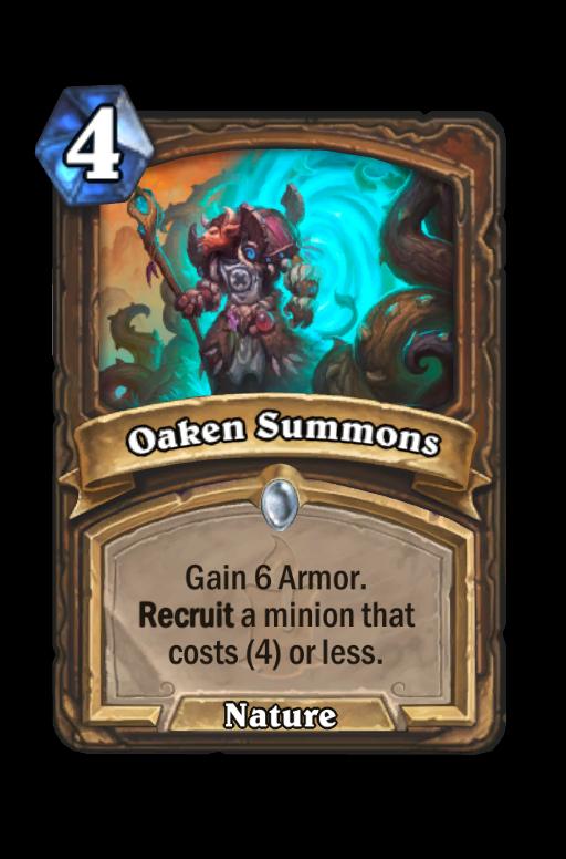 Oaken Summons Hearthstone kártya