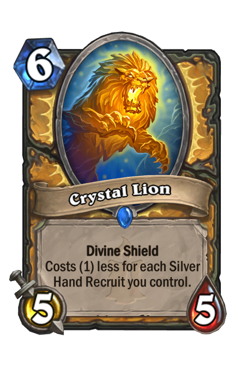 Crystal Lion Hearthstone kártya