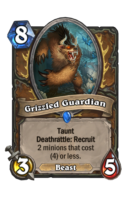 Grizzled Guardian Hearthstone kártya