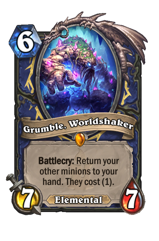 Grumble, Worldshaker Hearthstone kártya