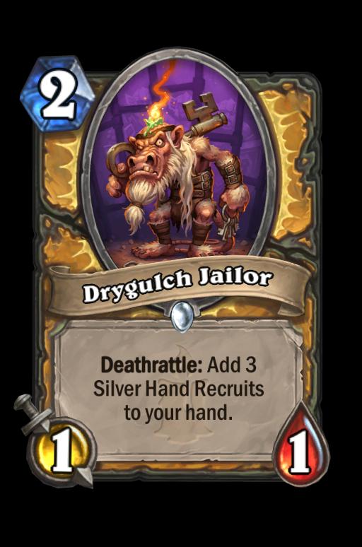 Drygulch Jailor Hearthstone kártya