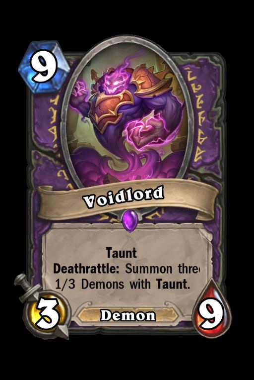 Voidlord Hearthstone kártya