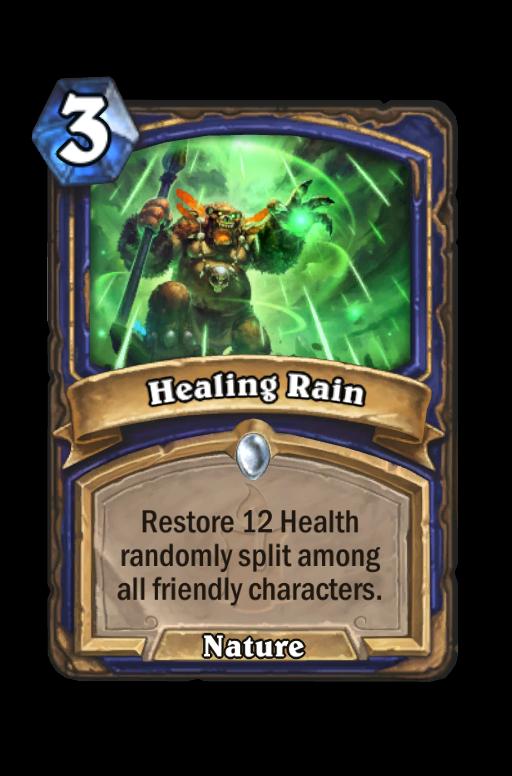 Healing Rain Hearthstone kártya