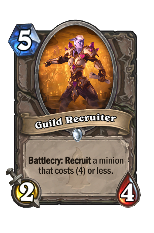 Guild Recruiter Hearthstone kártya