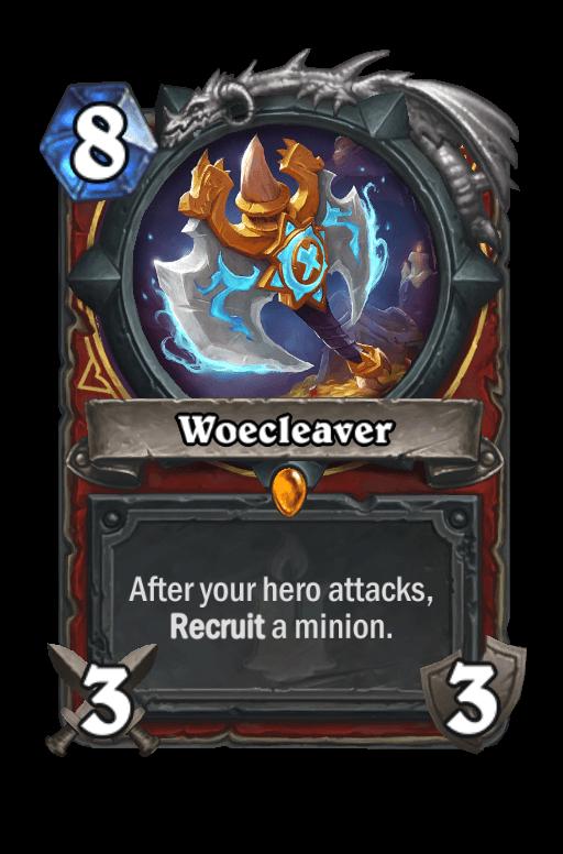 Woecleaver Hearthstone kártya