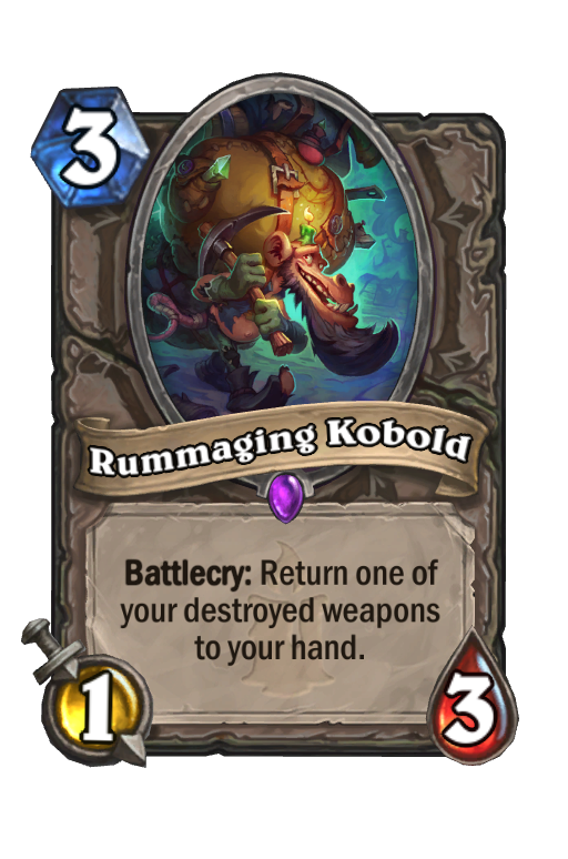 Rummaging Kobold Hearthstone kártya