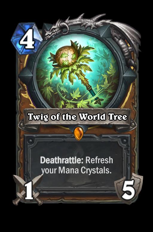 Twig of the World Tree Hearthstone kártya