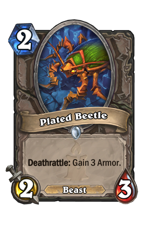 Plated Beetle Hearthstone kártya