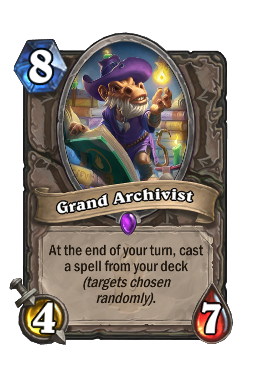 Grand Archivist Hearthstone kártya