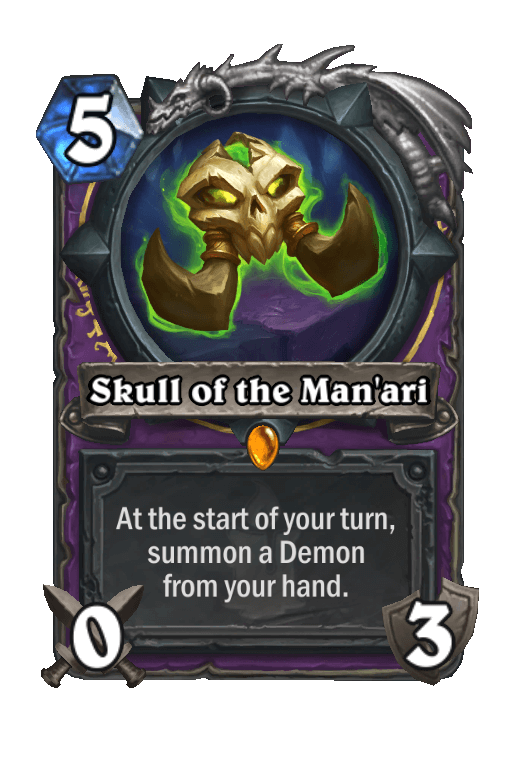 Skull of the Man'ari Hearthstone kártya