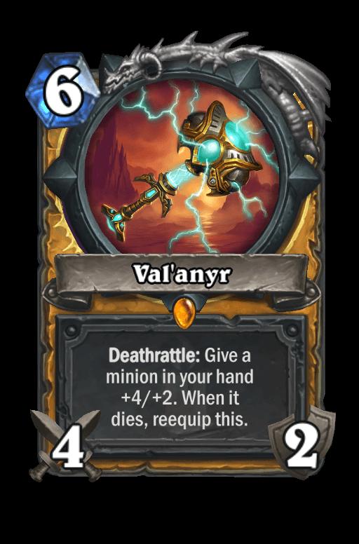 Val'anyr Hearthstone kártya