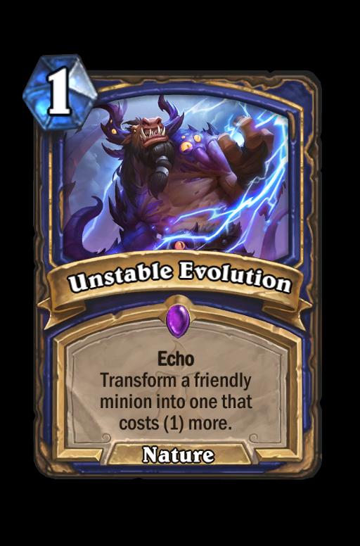 Unstable Evolution Hearthstone kártya