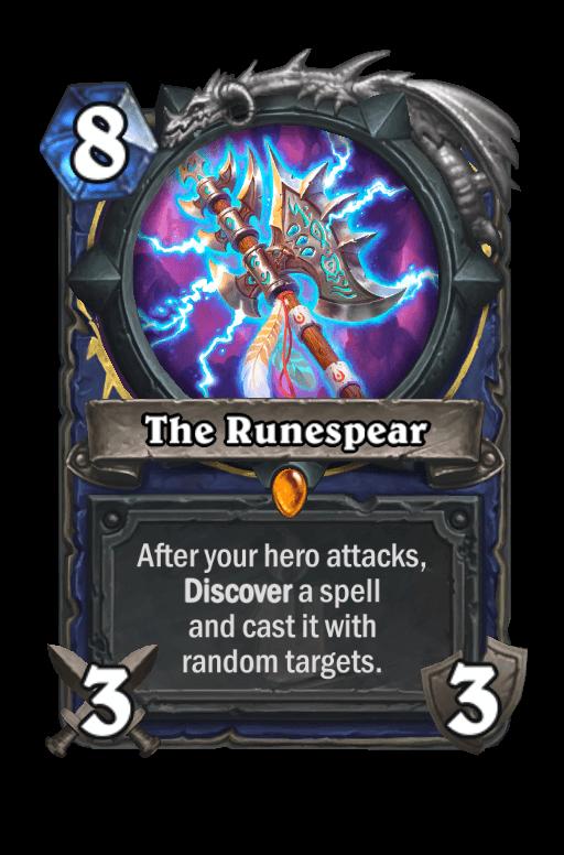 The Runespear Hearthstone kártya