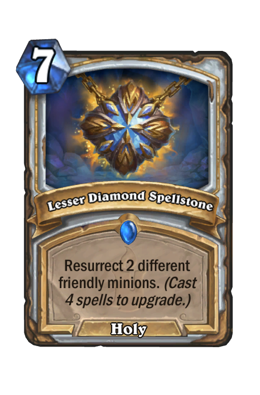 Lesser Diamond Spellstone Hearthstone kártya