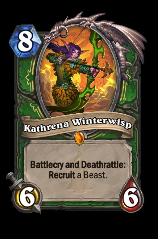 Kathrena Winterwisp Hearthstone kártya