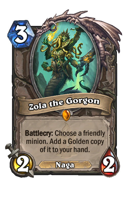 Zola the Gorgon Hearthstone kártya