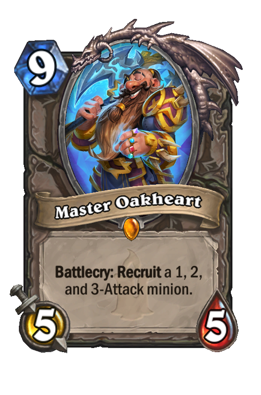 Master Oakheart Hearthstone kártya