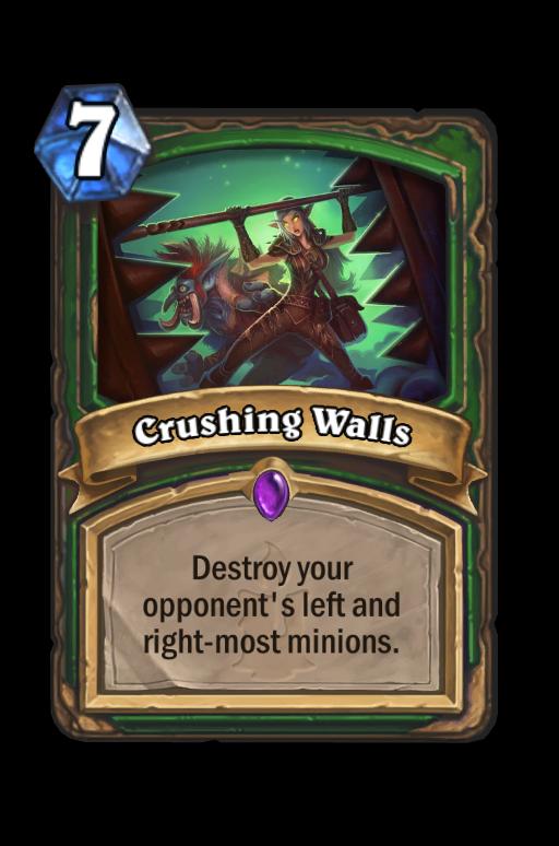 Crushing Walls Hearthstone kártya