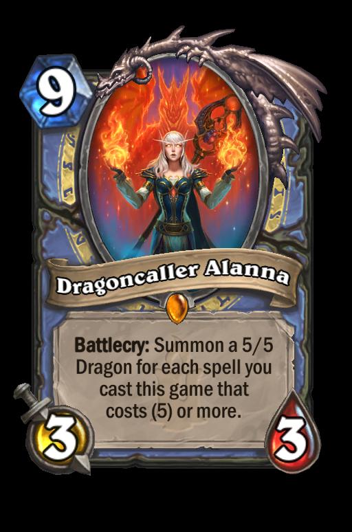 Dragoncaller Alanna Hearthstone kártya