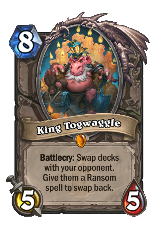 King Togwaggle Hearthstone kártya