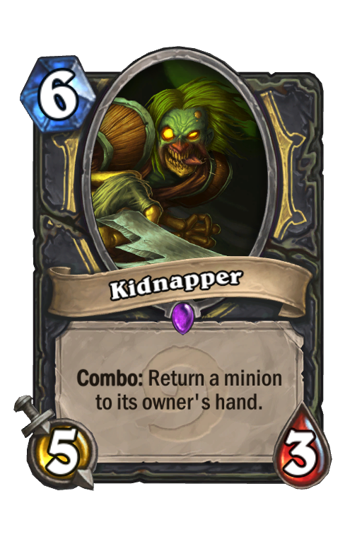 Kidnapper Hearthstone kártya