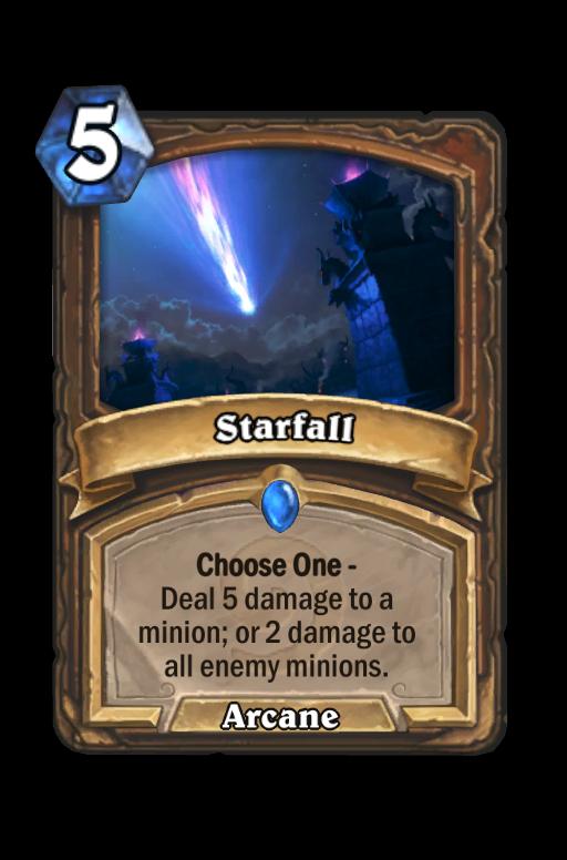 Starfall Hearthstone kártya