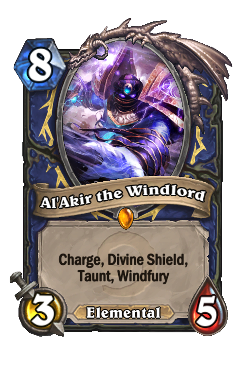 Al'Akir the Windlord Hearthstone kártya