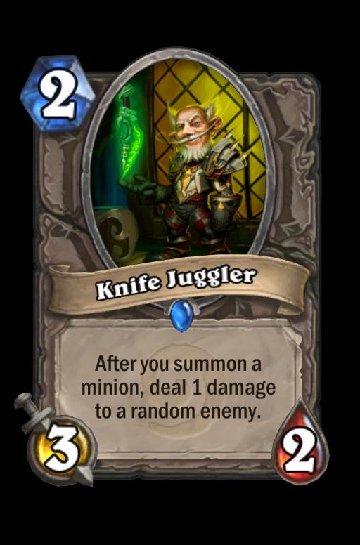 Knife Juggler Hearthstone kártya