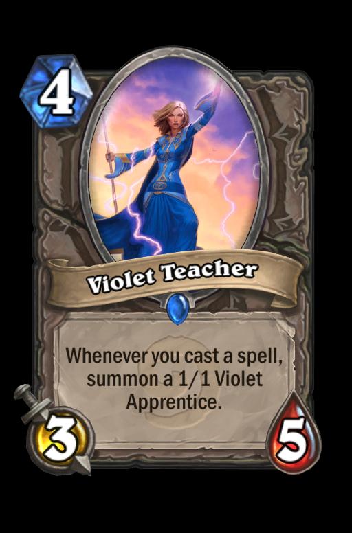 Violet TeacherHearthstone kártya