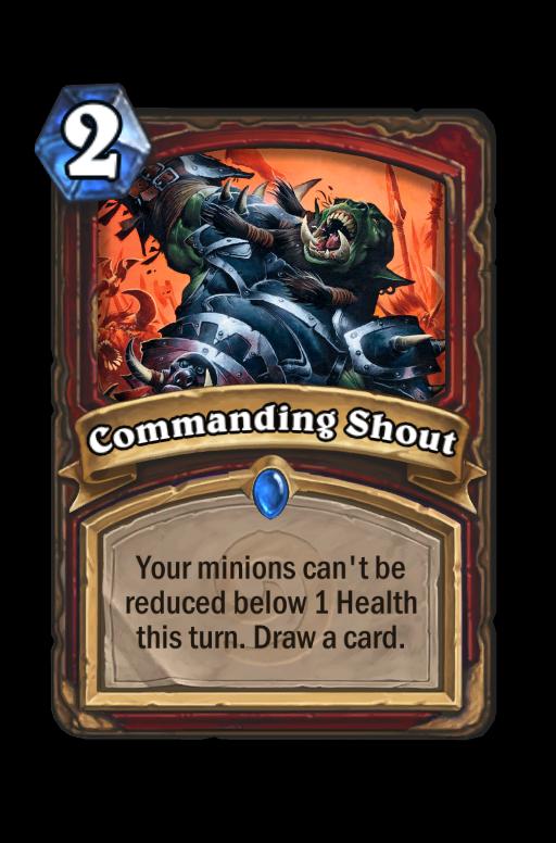 Commanding Shout Hearthstone kártya