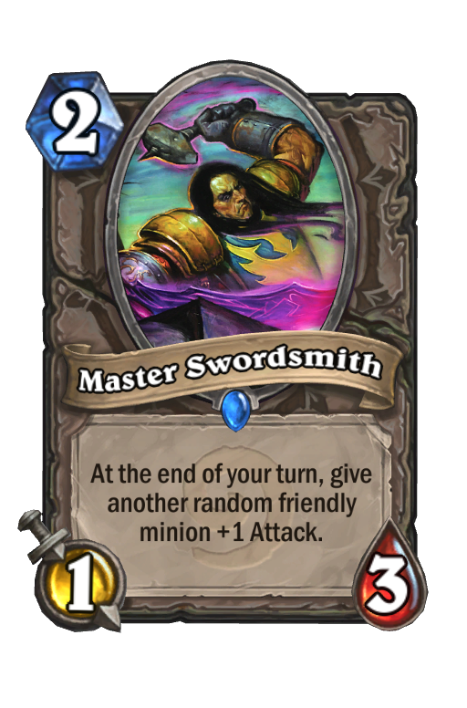 Master Swordsmith Hearthstone kártya