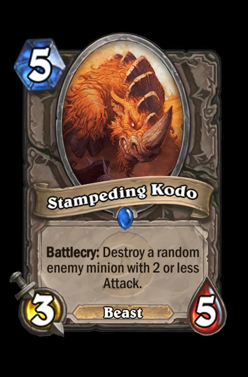 Stampeding Kodo Hearthstone kártya