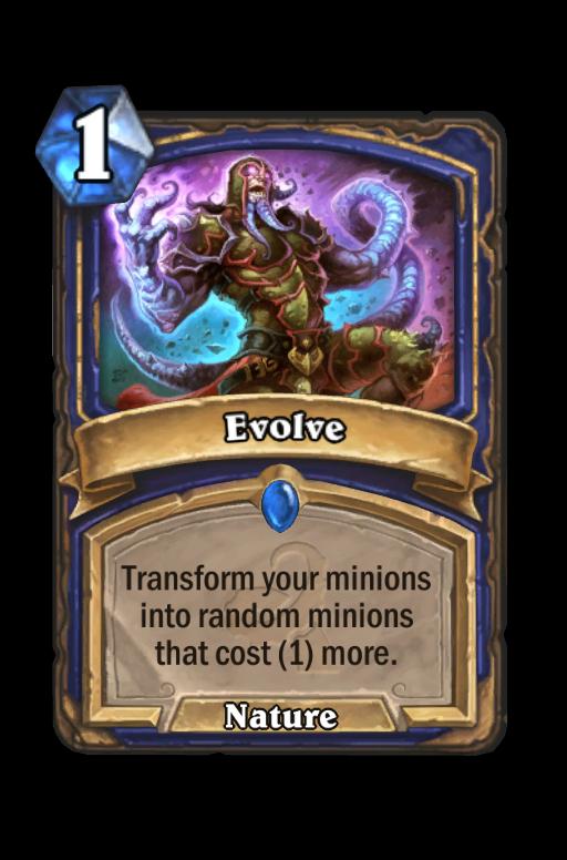 Evolve Hearthstone kártya