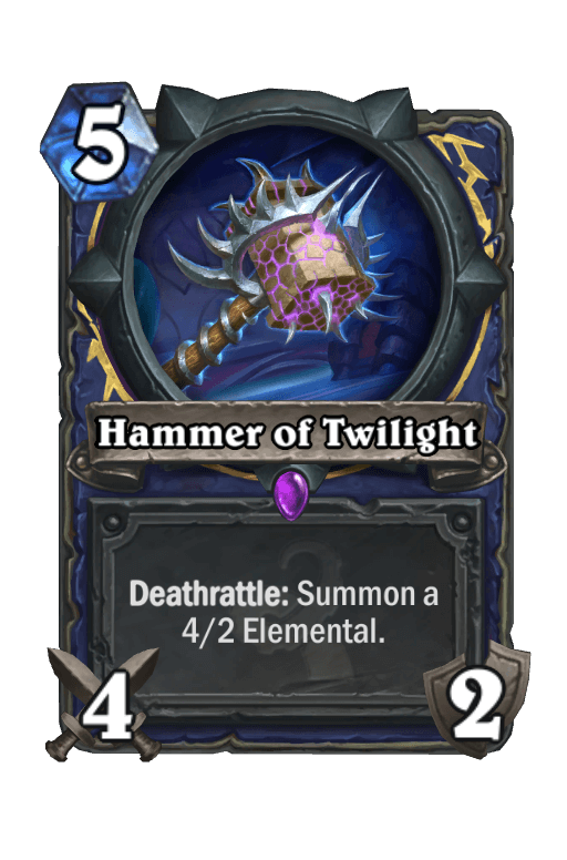 Hammer of Twilight Hearthstone kártya