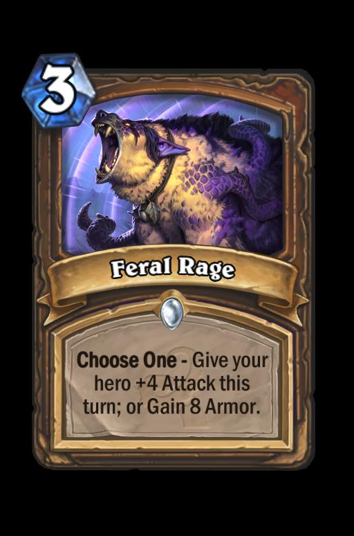 Feral Rage Hearthstone kártya