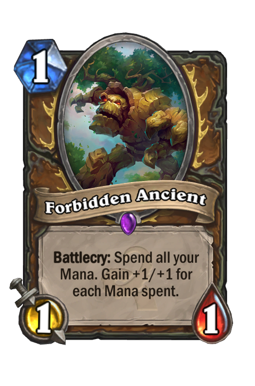 Forbidden Ancient Hearthstone kártya