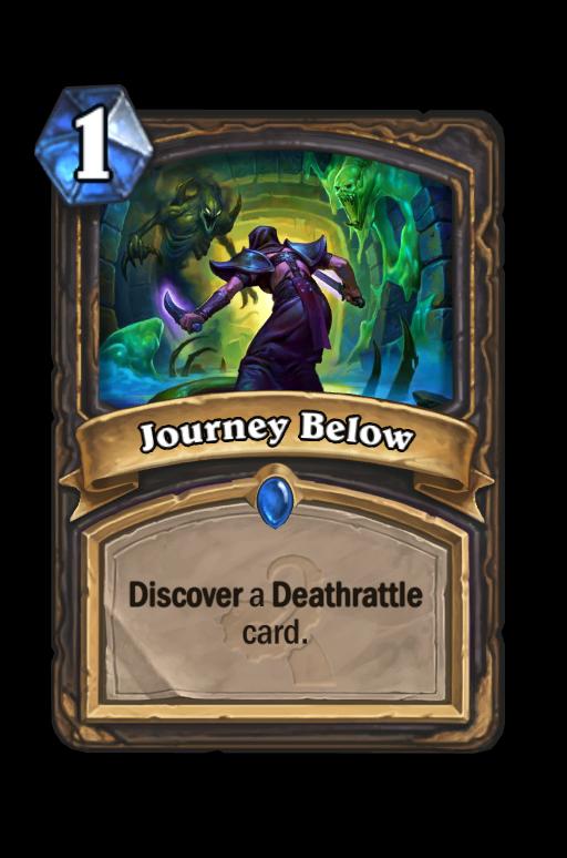 Journey Below Hearthstone kártya
