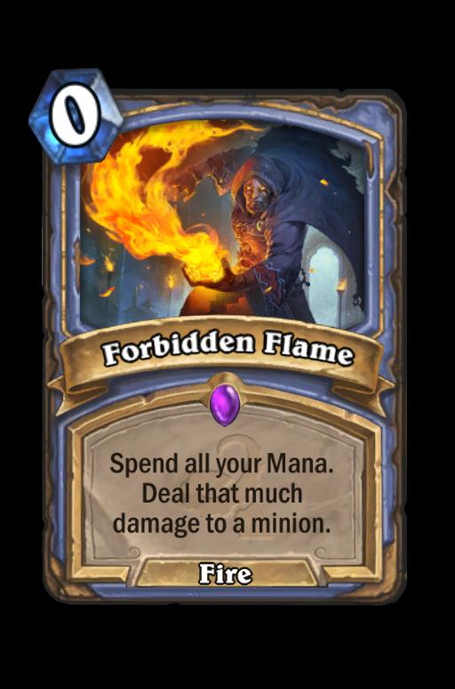 Forbidden Flame Hearthstone kártya