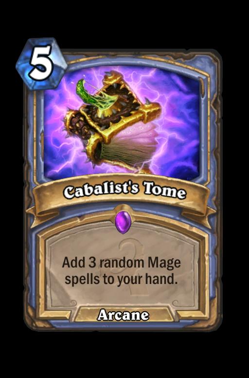 Cabalist's Tome Hearthstone kártya