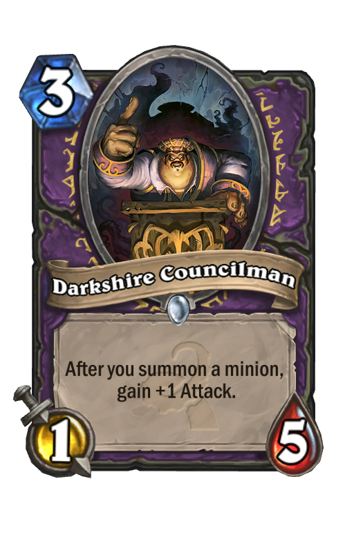 Darkshire Councilman Hearthstone kártya
