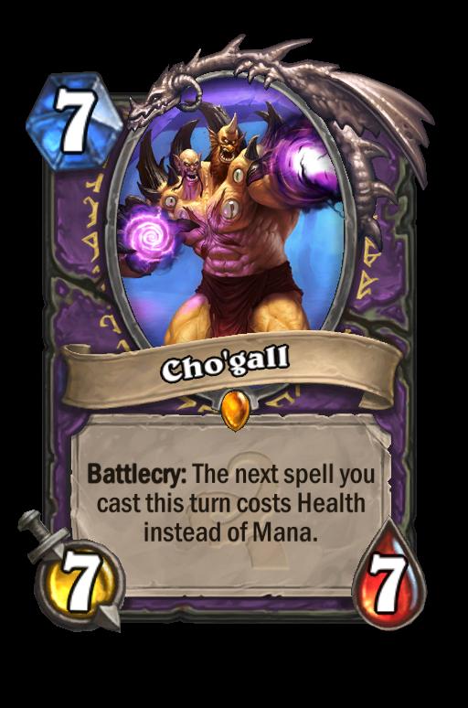 Cho'gall Hearthstone kártya