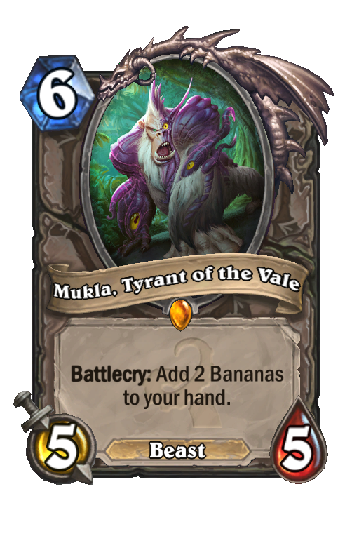 Mukla, Tyrant of the Vale Hearthstone kártya