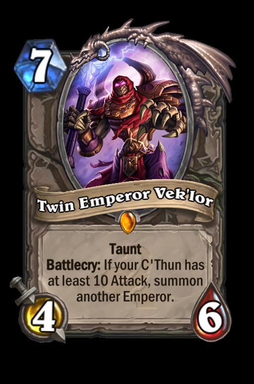 Twin Emperor Vek'lor Hearthstone kártya