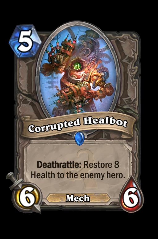 Corrupted HealbotHearthstone kártya